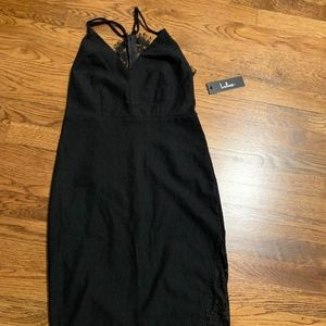 NEW Black Dress with Lace Back LULU'S